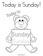 Today is Sunday Coloring Page