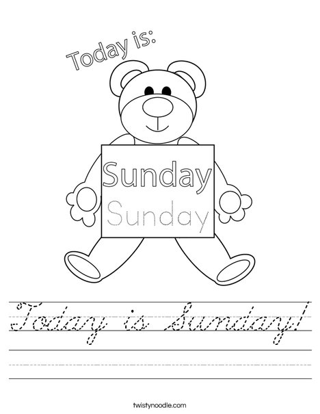 Today is Sunday! Worksheet