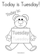 Today is Tuesday Coloring Page