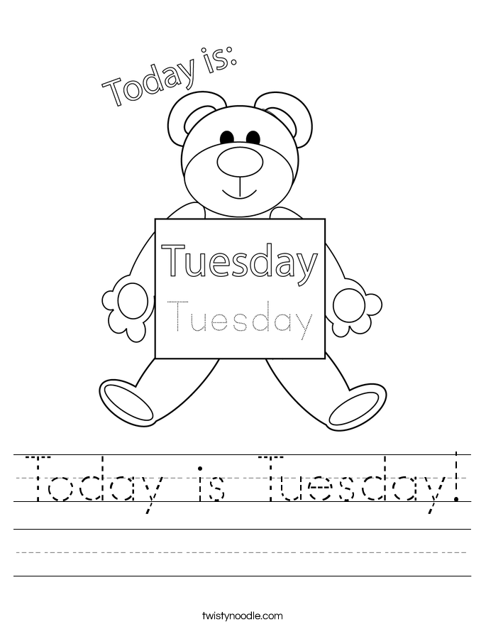 Today is Tuesday! Worksheet