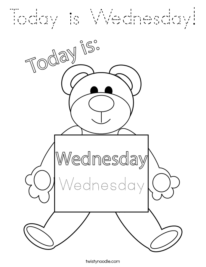 Today is Wednesday! Coloring Page