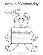 Today is Wednesday Coloring Page