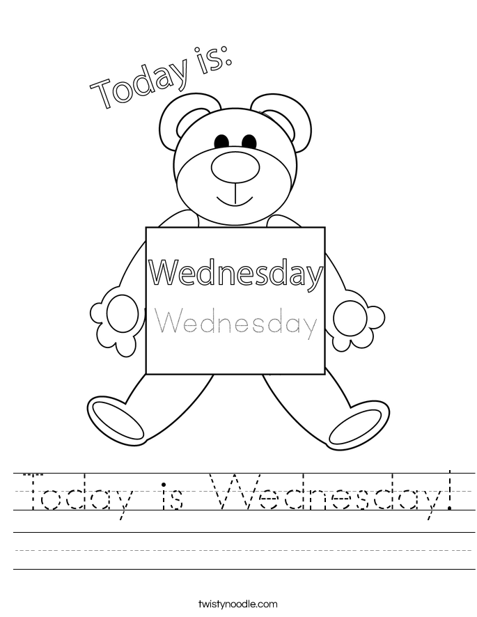 Today is Wednesday! Worksheet