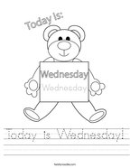 Today is Wednesday Handwriting Sheet