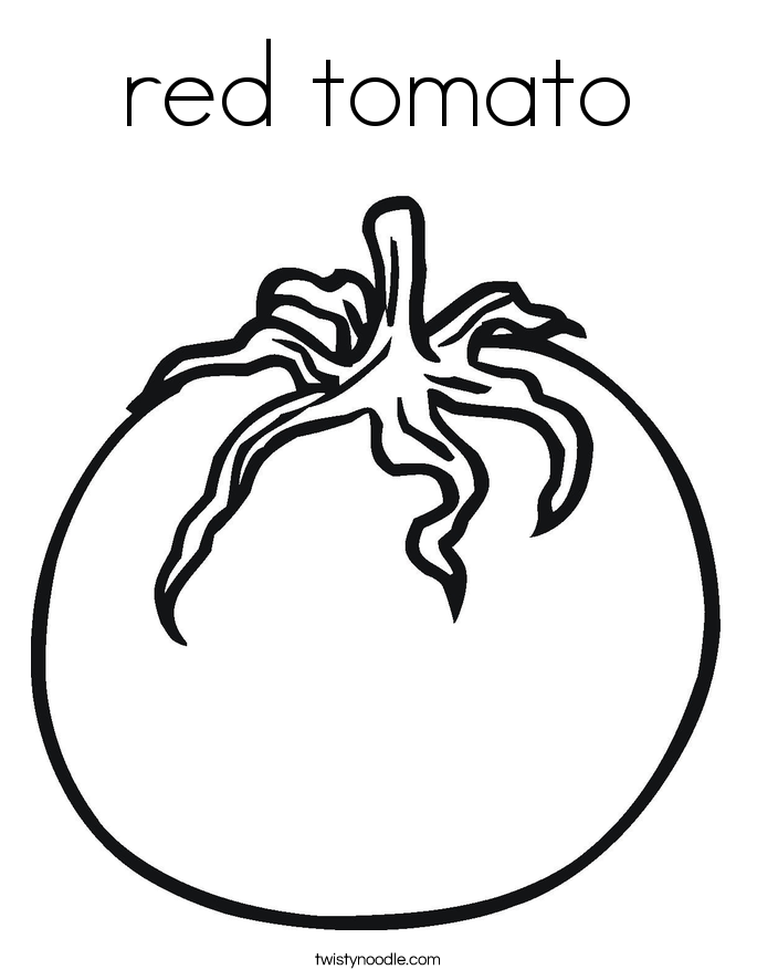 red tomato Coloring Page
