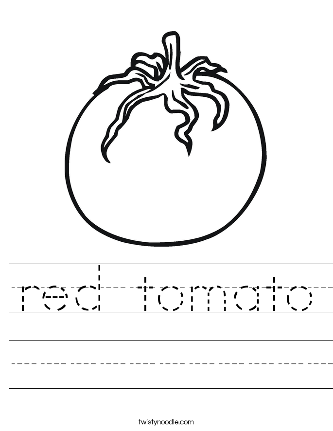red tomato Worksheet