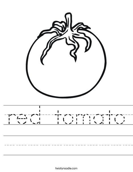 Tomato Worksheet