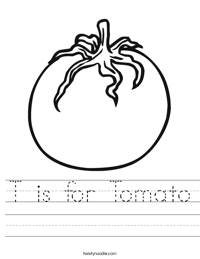 T is for Tomato Worksheet