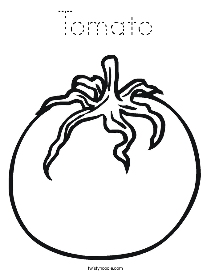 tomato coloring page tracing twisty noodle