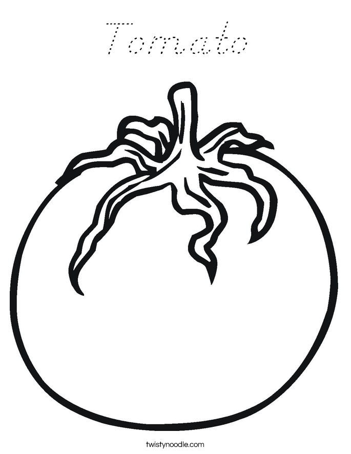 Tomato Coloring Page