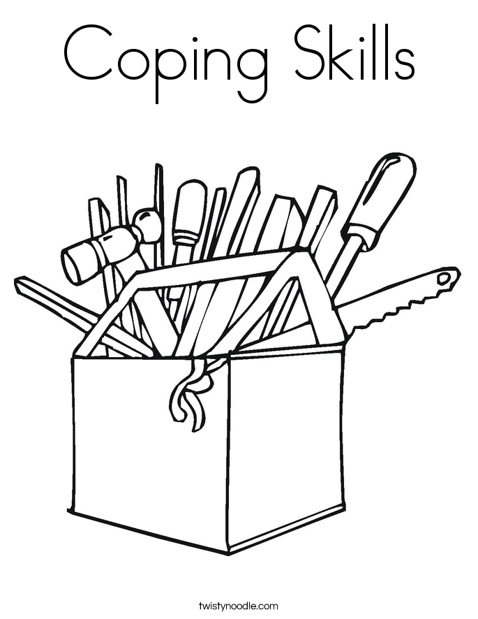 coping skills coloring page   twisty noodle