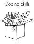 Coping Skills Coloring Page