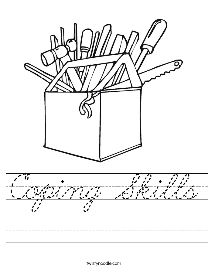 Coping Skills Worksheet