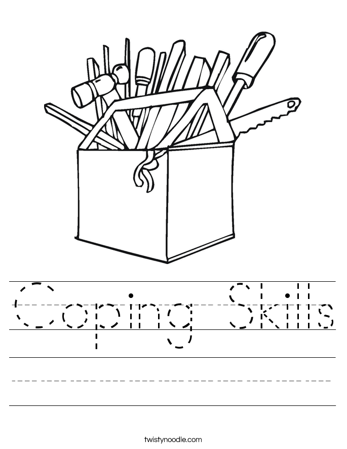 Coping Skills Worksheet - Twisty Noodle