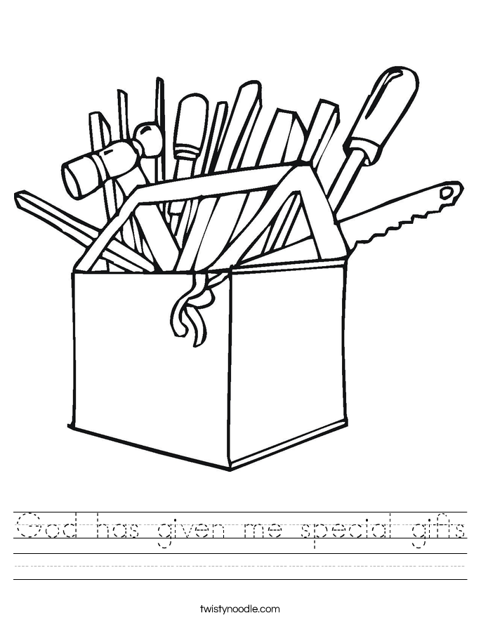 God has given me special gifts Worksheet