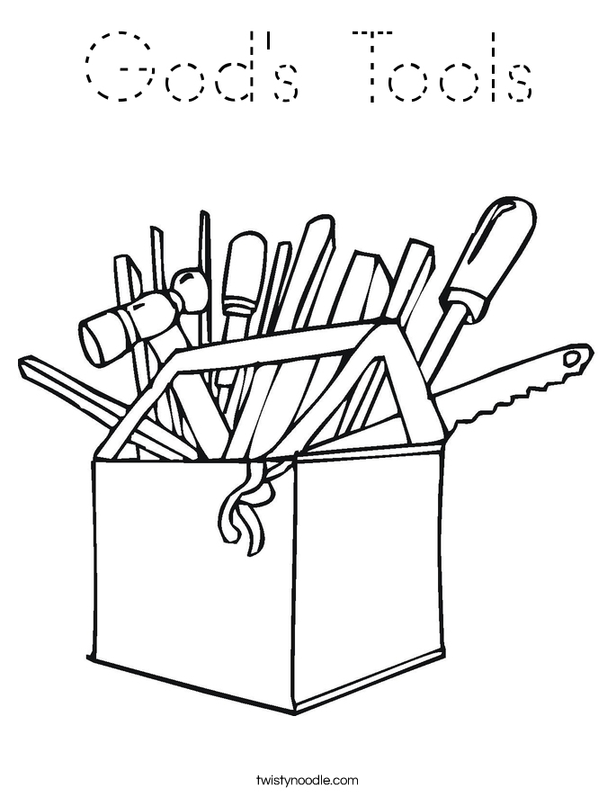 God's Tools Coloring Page