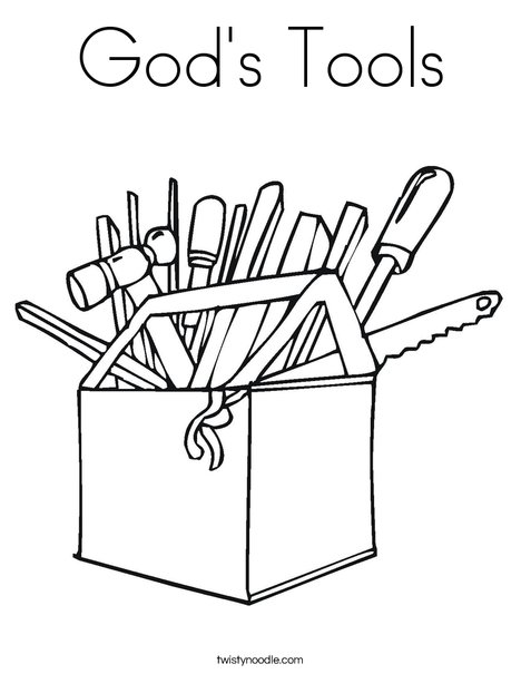 Tool Box Coloring Page