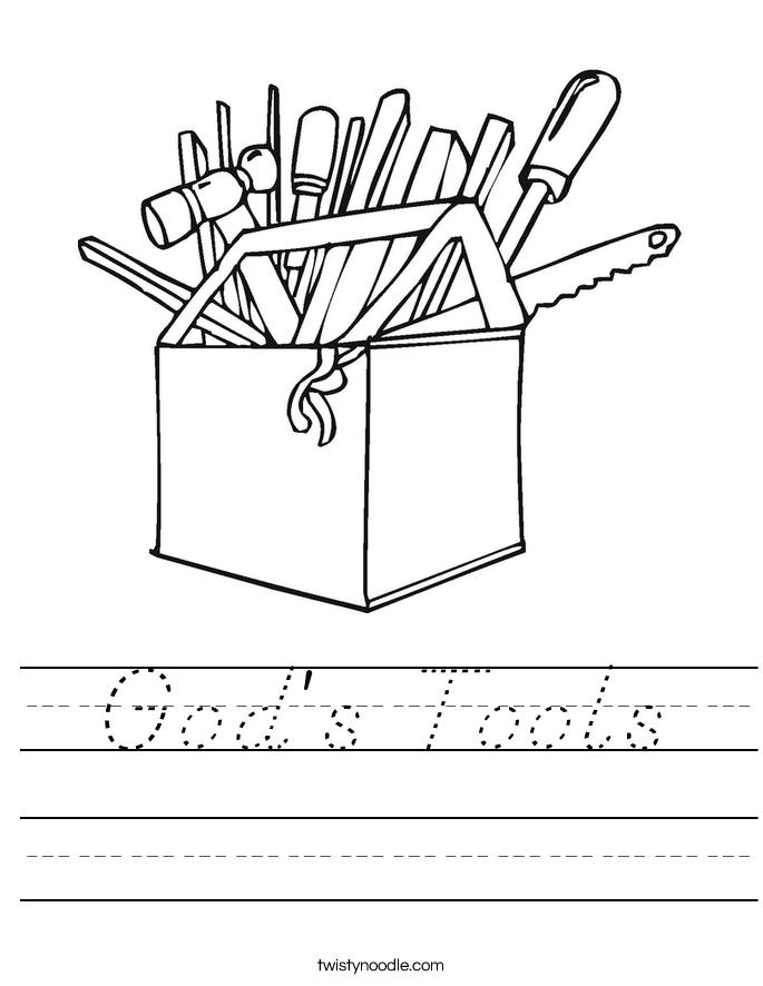 God's Tools Worksheet