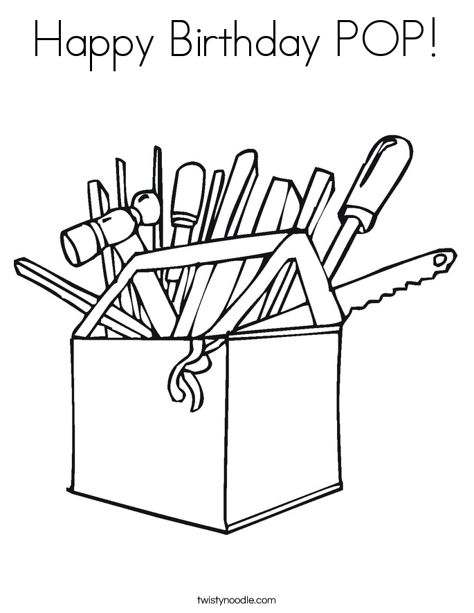 Happy Birthday POP! Coloring Page