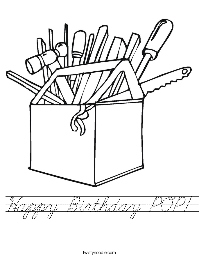 Happy Birthday POP! Worksheet
