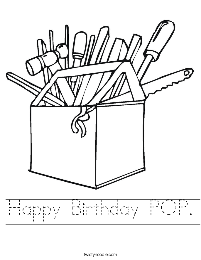 Happy Birthday POP! Worksheet