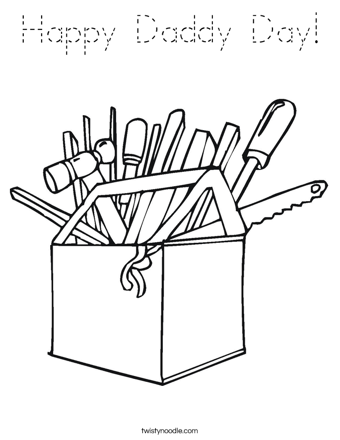 Happy Daddy Day! Coloring Page