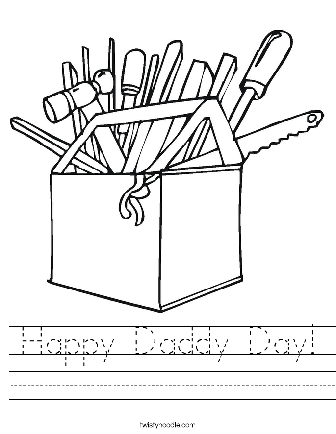 Happy Daddy Day! Worksheet