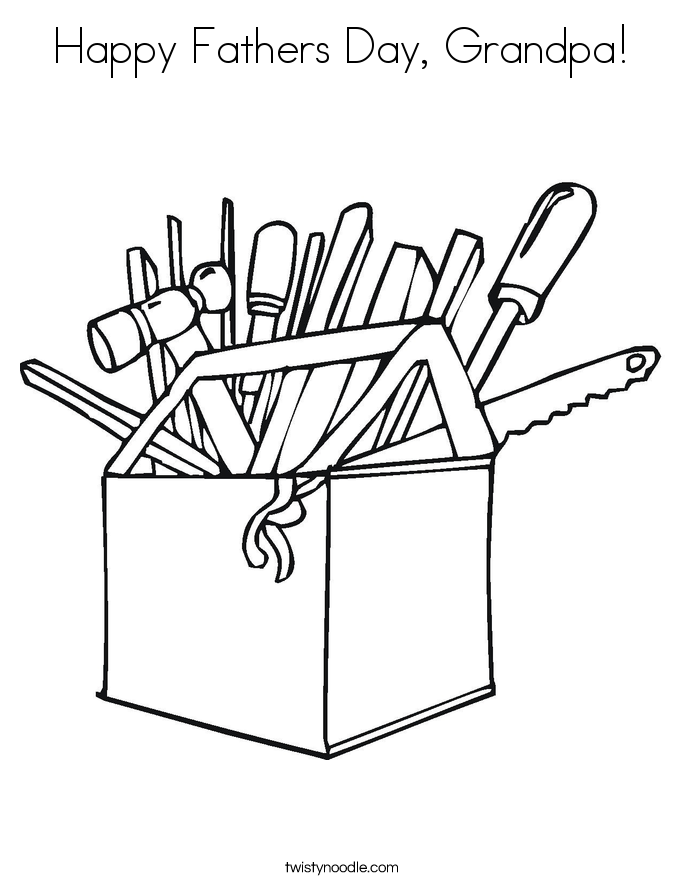 Happy Fathers Day, Grandpa! Coloring Page