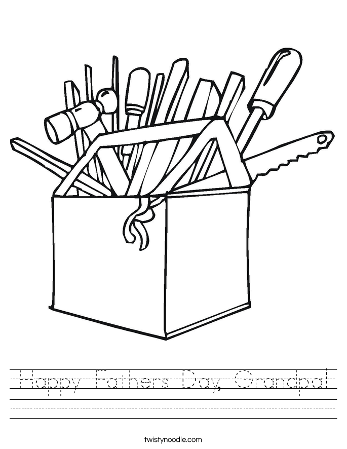 Happy fathers day grandpa worksheet twisty noodle for Happy fathers day grandpa coloring pages