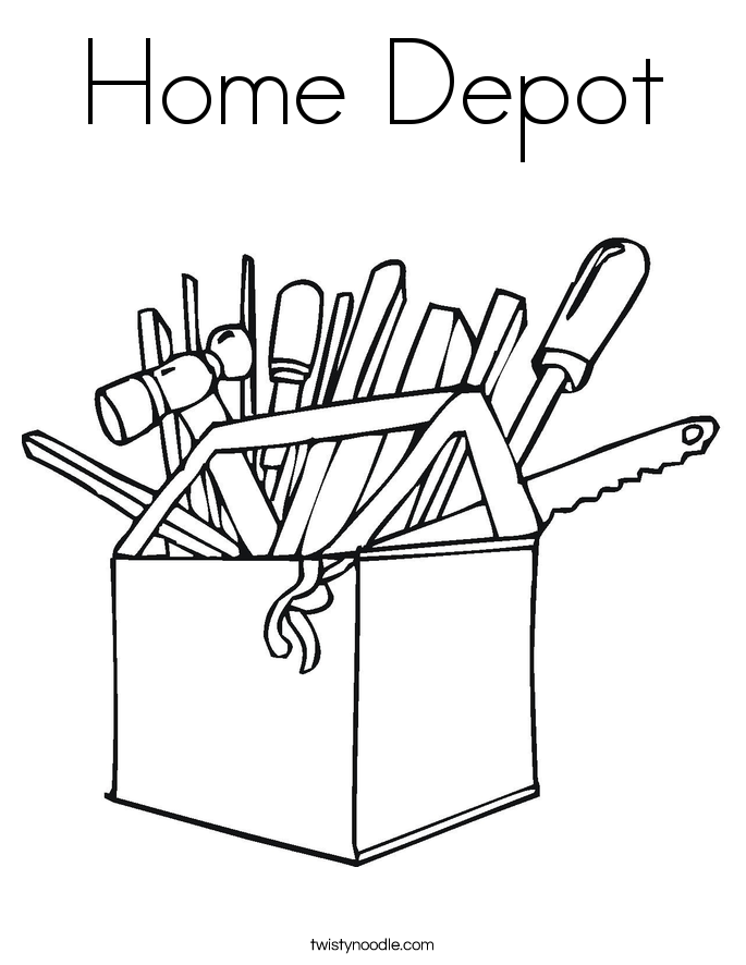 Home Depot Coloring Page