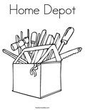 Home DepotColoring Page