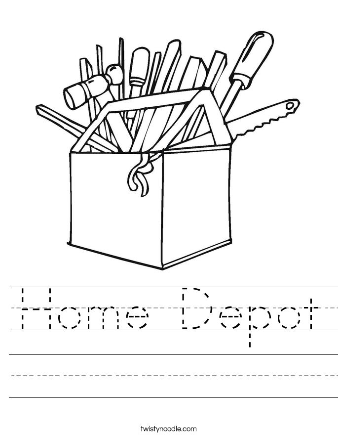 Home Depot Worksheet