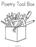 Poetry Tool BoxColoring Page
