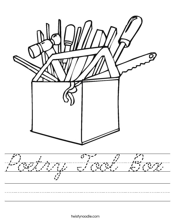 Poetry Tool Box Worksheet