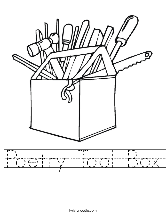 Poetry Tool Box Worksheet