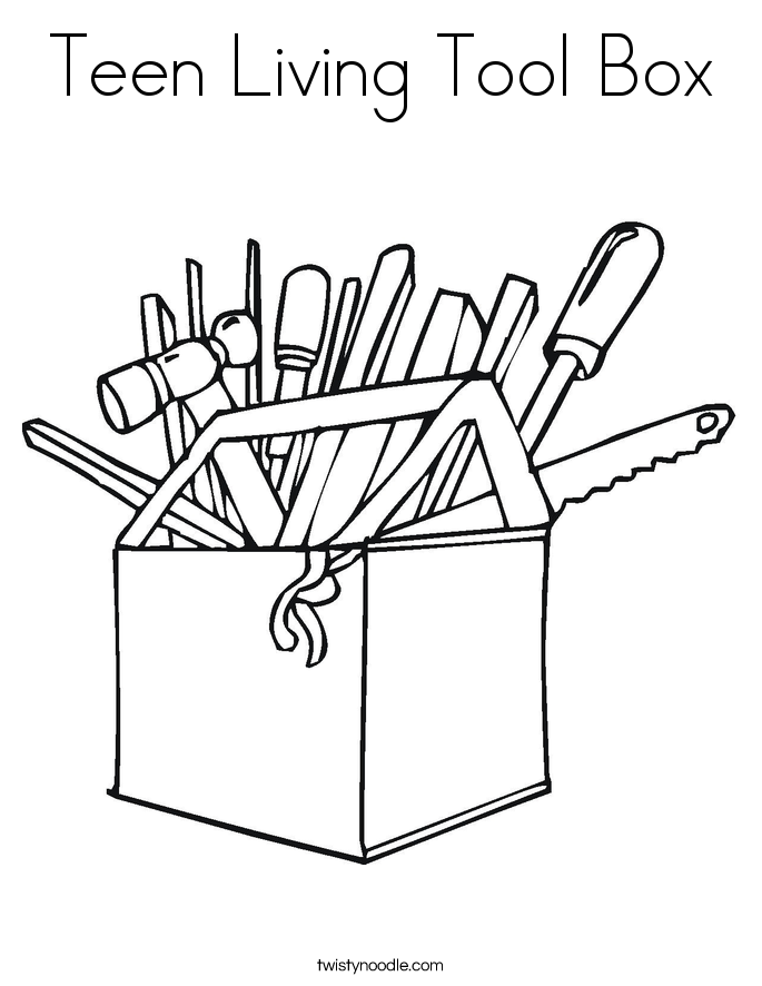 Teen Living Tool Box Coloring Page