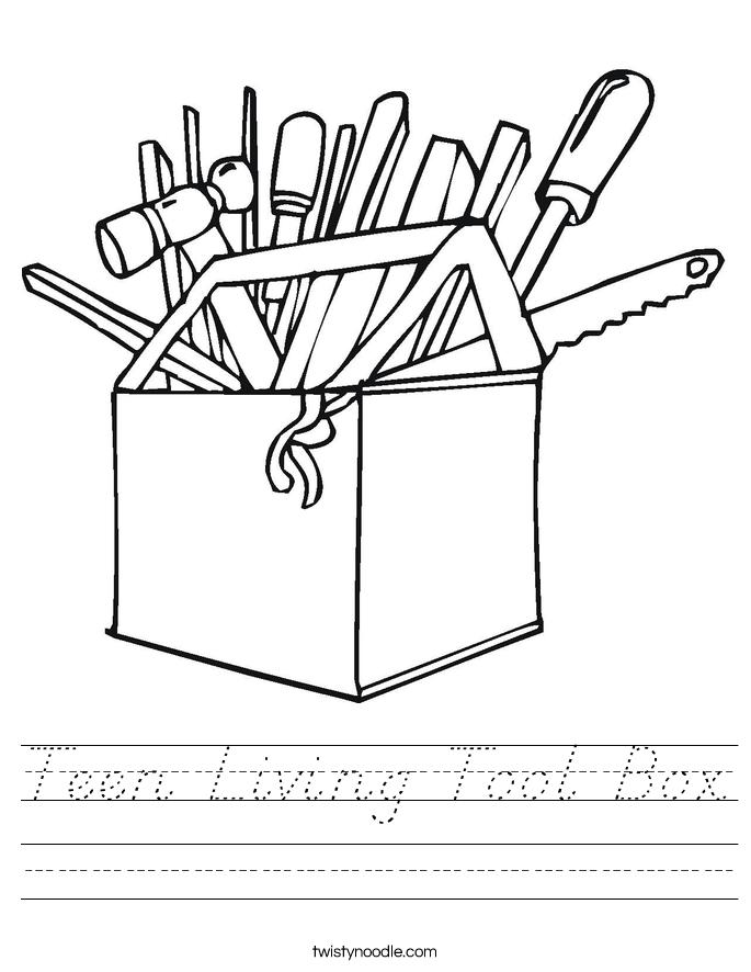 Teen Living Tool Box Worksheet