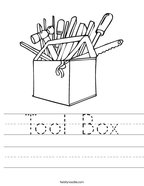 Tool Box Handwriting Sheet