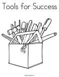 Tools for Success Coloring Page