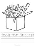 Tools for Success Worksheet
