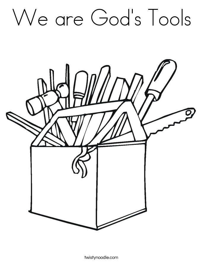 Images Tool Box Coloring Page