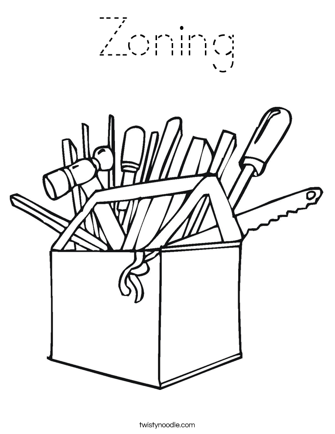 Zoning Coloring Page