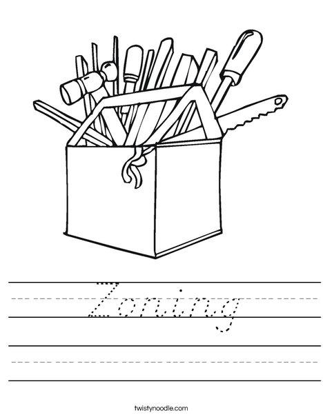 Tool Box Worksheet