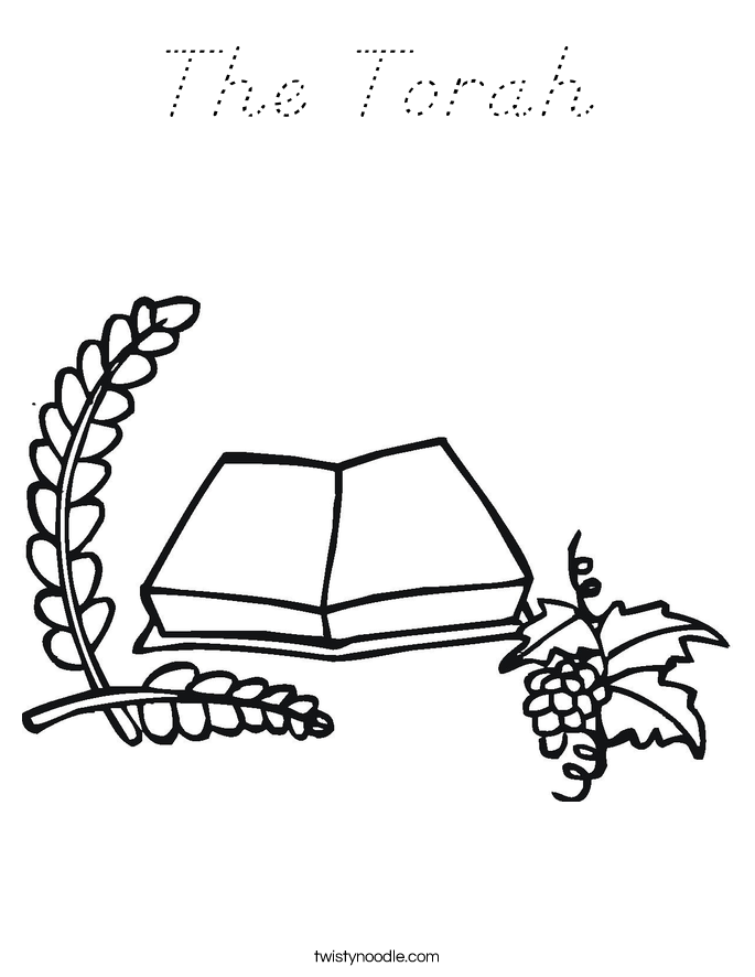 The Torah Coloring Page