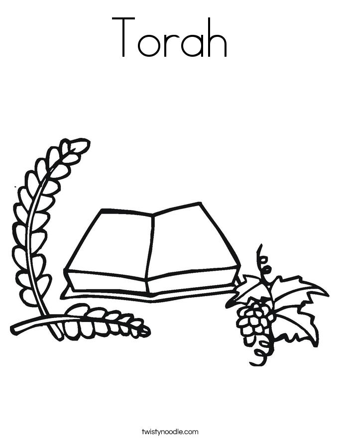 Torah Coloring Page