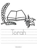 Torah Handwriting Sheet