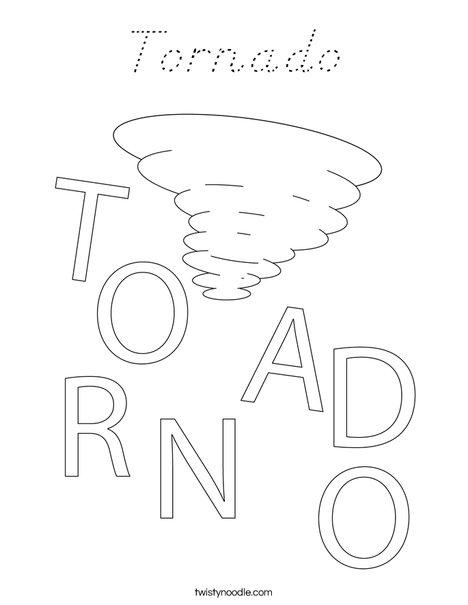 Tornado Coloring Page