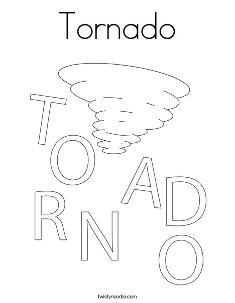 Tornado Coloring Page - Twisty Noodle