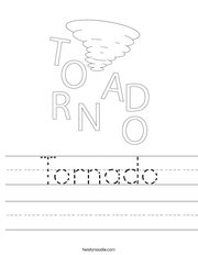 Tornado Handwriting Sheet