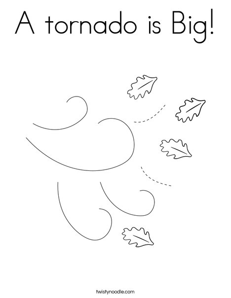 Tornado Funnel Cloud Coloring Page